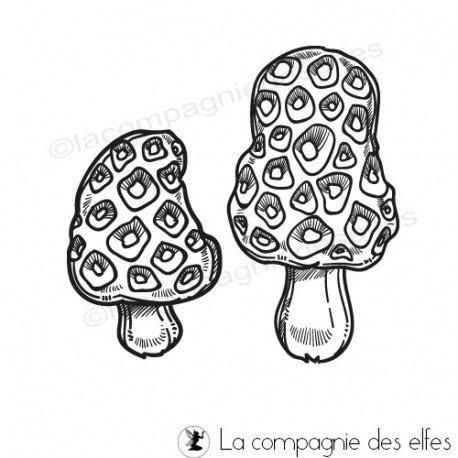 étampe champignon | achat cachet morille | mushrom stamp