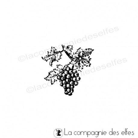 Wine stamp | fruit rubber stamp
