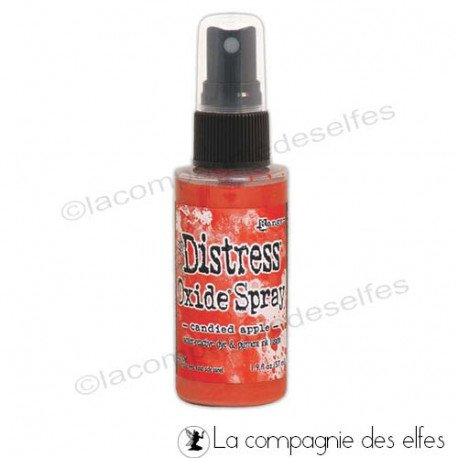 achat encre distress oxide rouge | spray oxide candied apple