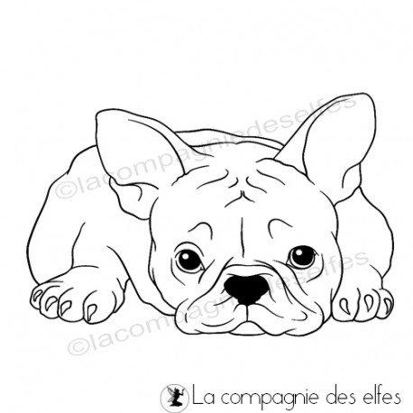 Sketch page par Gribouillette. Tampon-encreur-bouledogue-craquant