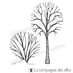 étampe arbres | saison hiver scrapbooking