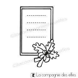 étampe chêne| Etiquette timbre automne