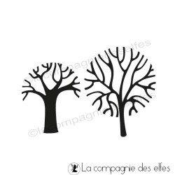 étampe arbres nus| achat timbre arbre sans feuille