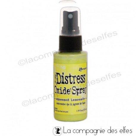Distress oxide spray squeezed lemonade | achat spray distress