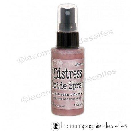achat encre distress rose | acheter spray oxide victorian velvet