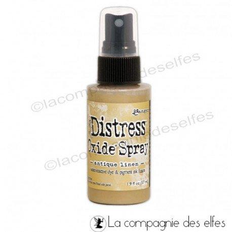 achat encre distress oxide| spray oxide antique linen