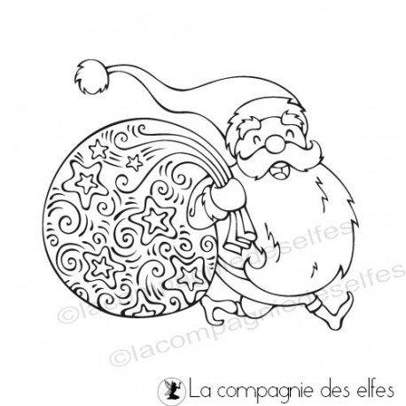 Etiquettes cadeaux pour Noël  Tampon-papa-noel
