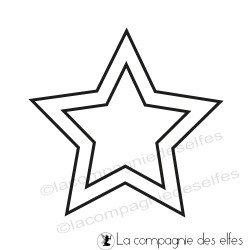 timbre étoile | étoile à découper tampon