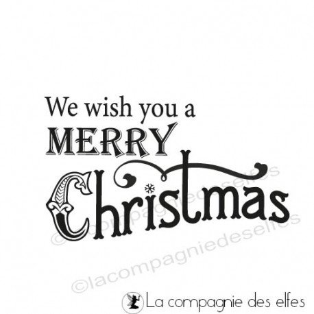 étampe mots Noël | achat cachet christmas | christmas stamp