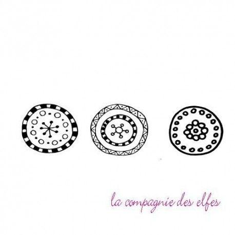 Tampon cercles | tampon scrapbooking rond | round circle stamp