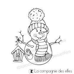 Tampon bonhomme de neige nichoir