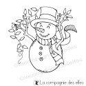 Tampon bonhomme de neige guirlande