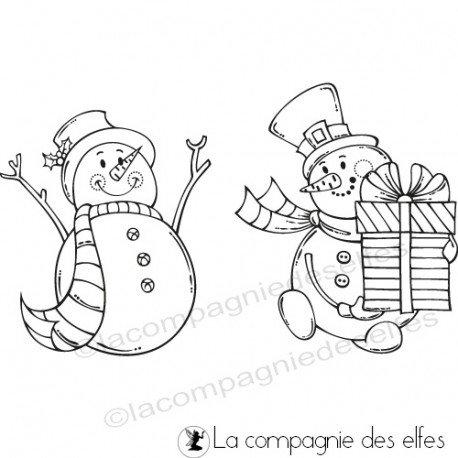 étampe snowman | snowmans stamps