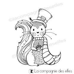 Tampon écureuil avec écharpe