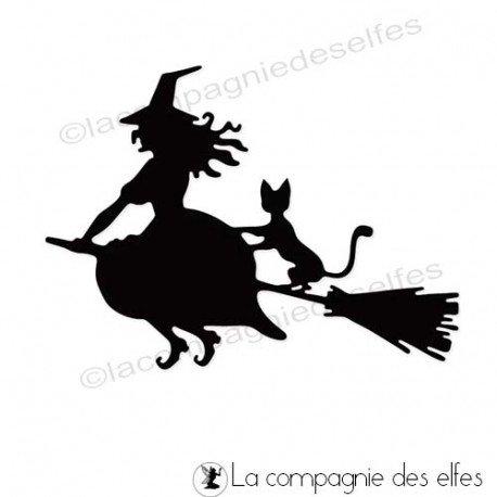Nouveaux tampons Halloween 3/3 programmé 29/09 Die-chat-sorciere
