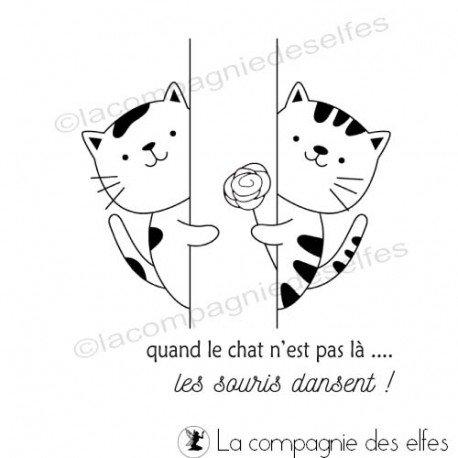 Tampons Sandrine ETIQUETTES Tampon-quand-le-chat-n-est-pas-la