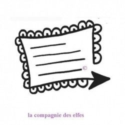 étiquette journaling flèche - tampon nm