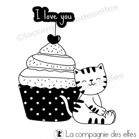 cartes coeur st valentin ou pas 3/3 Tampon-chat-cupcake