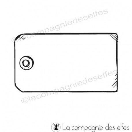 carte tons bleus 3/3 Tampon-etiquette-tag-vide