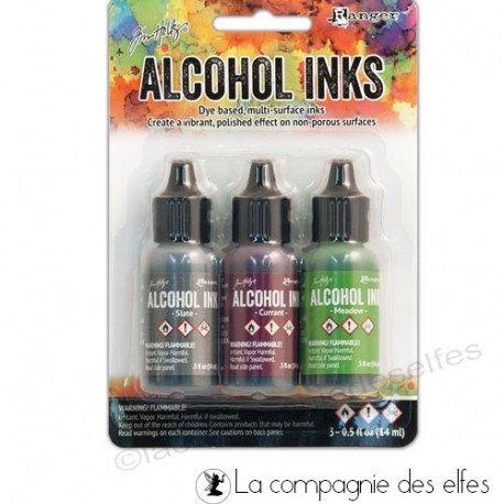 Encre alcool Tim Holtz cottage path | alcohol ink Ranger