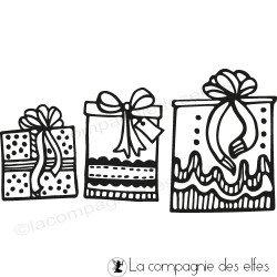 Tampon paquets cadeaux