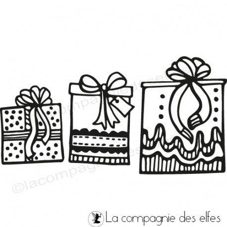 carte tons bleus 3/3 Tampon-paquets-cadeaux