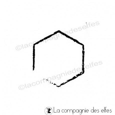 Timbre hexagone | tampon encreur hexagone