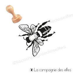 Tampon encreur abeille | timbre semelle abeille