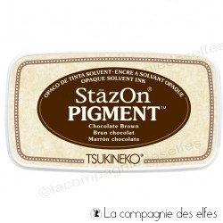 stazon ink | encre stazon | encre marron chocolat