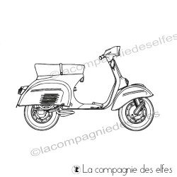 Tampon encreur scooter | timbre vespa scooter