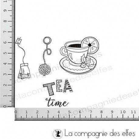 Etiquettes cadeaux pour Noël  Tampons-tea-time