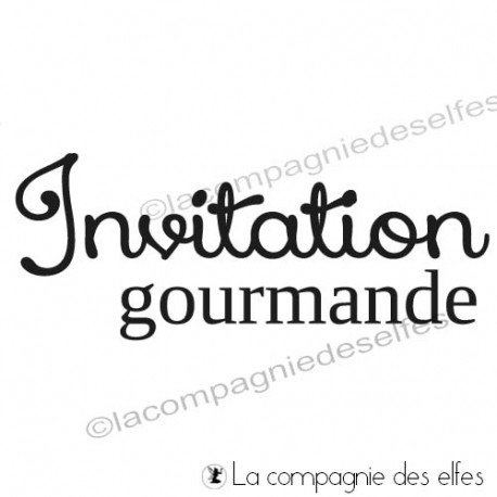 acheter tampon encreur invitation | timbre invitation gourmande
