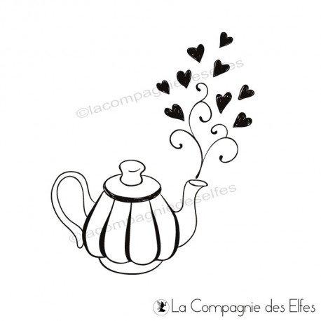 Tampon théière | tea stamp