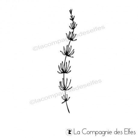 Tampon prêle | timbre botanique prêle