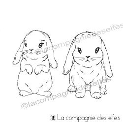 Tampon duo de lapins