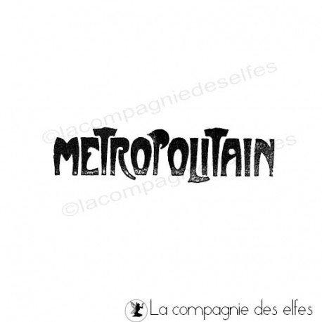 Timbre metropolitain | étampe Paris