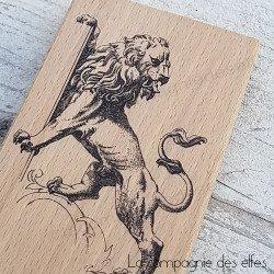 Acheter timbre lion Flandres | semelle lion médiéval