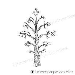 étampe arbres | tampons hiver scrapbooking