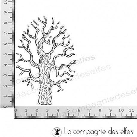 étampe arbre automne | tampons hiver scrapbooking