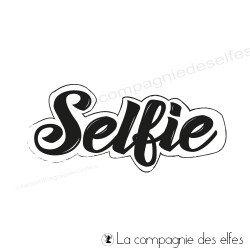 Tampon encreur selfie |selfie rubber stamp
