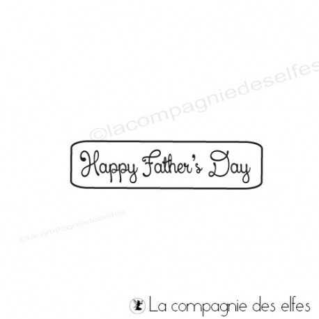 stamp happy father day | father day rubber stamp
