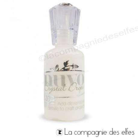 Blanc jewel drop | jewel gloss white