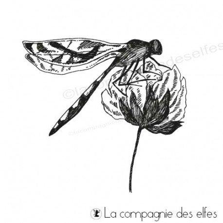 étampe libellule | dragonflies stamp scrapbooking