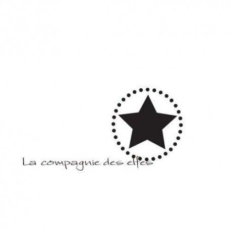 tampon encreur étoile | tampon logo | tampon scrap étoile