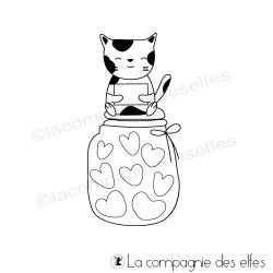 étampe chat | love cat stamp | tampon scrapbooking chat