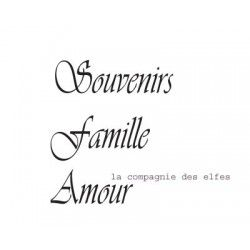 tampon Amour - Souvenirs - Famille - nm