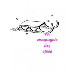 sled snow stamp | achat tampon de noel