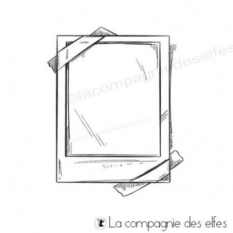 Tampon polaroïd | polaroid photo rubber stamp