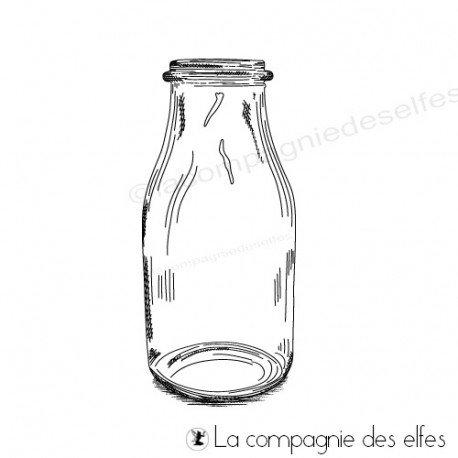 Tampon bouteille lait   milk bottle stamp