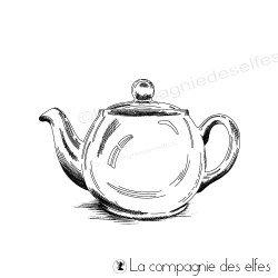 Tampon pot de thé | tea bottle stamp